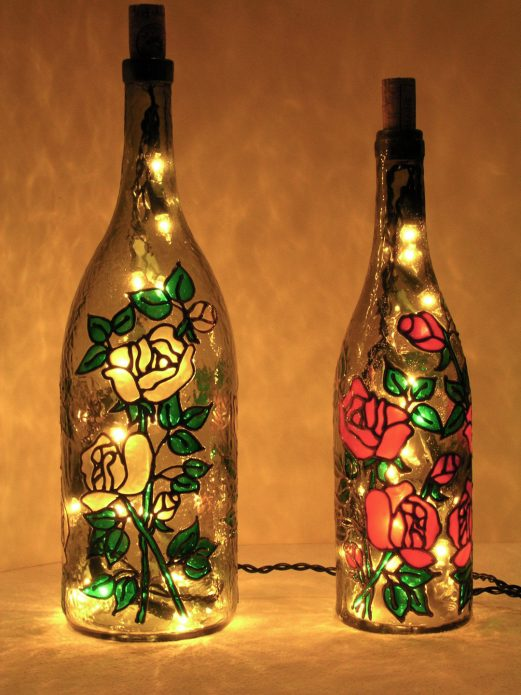 светильники из бутылок