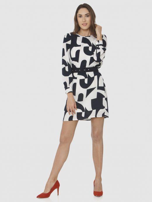 Платье с абстрактным принтом