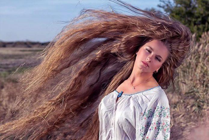 Расплетенные волосы
