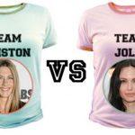 Футболки в поддержку Энистон и Джоли