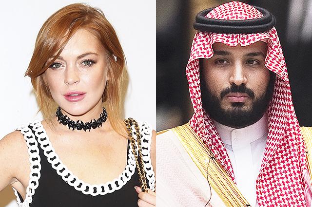 Линдси Лохан приписывают роман с женатым саудовским принцем