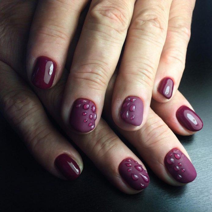 серенево-фиолетовый с капельками