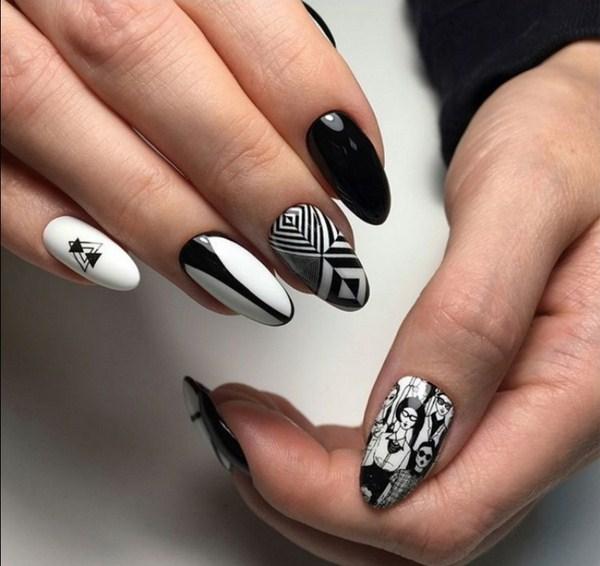 черно-белый геометрический дизайн