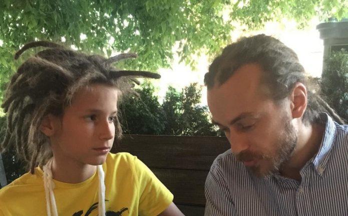Децл с сыном