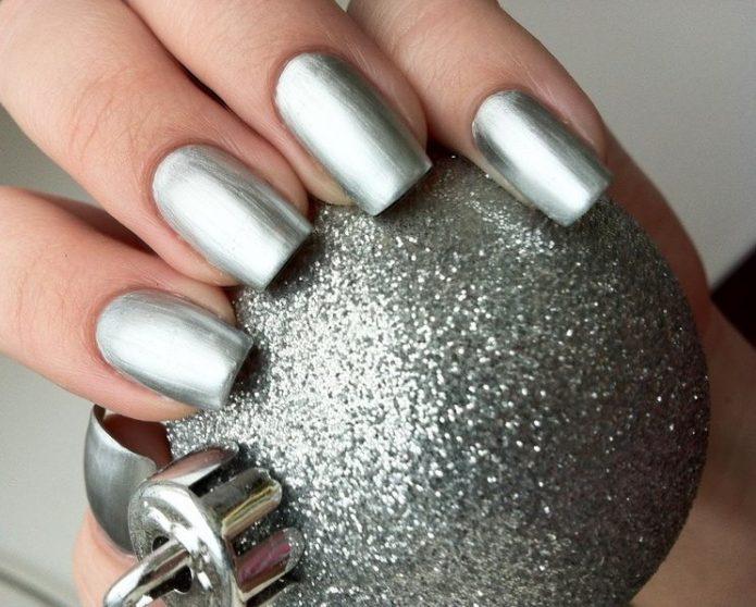 матовый светлое серебро