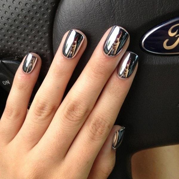 темное зеркальное серебро