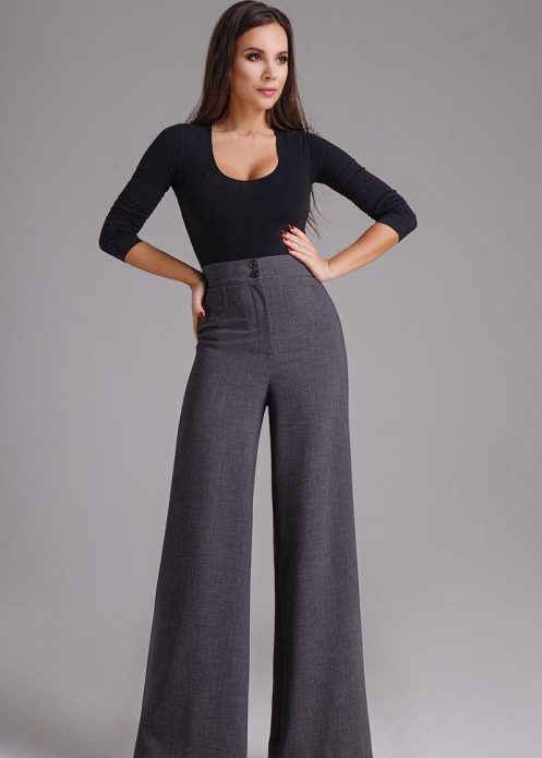 Расклешённые деловые брюки