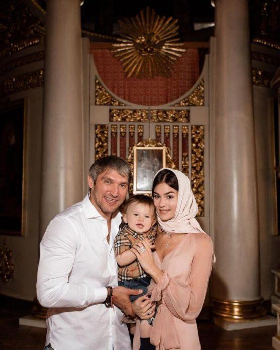 Шубская и Овечкин впервые показали лицо сына
