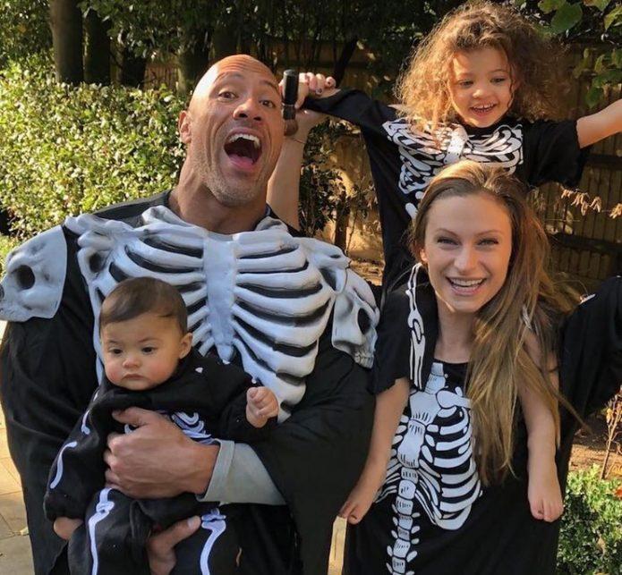 Дуэйн и Лорен с дочерьми