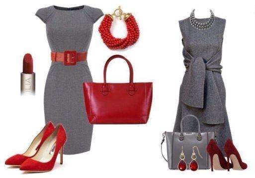 серый и красный в одежде, луки