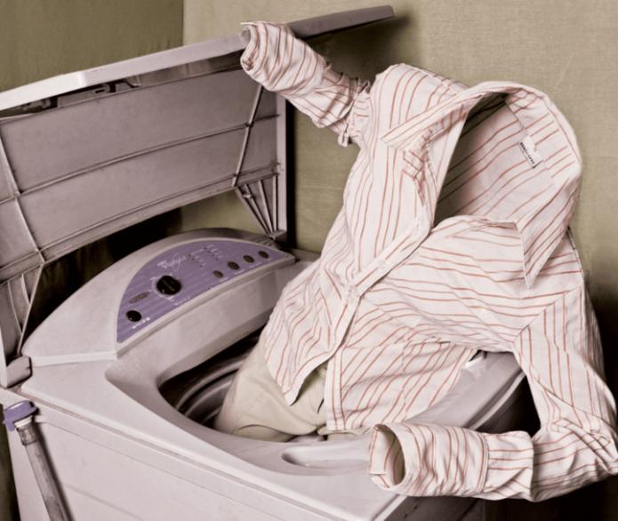 Рубашка в стиральной машине