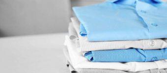 Рубашки из разных материалов и цветов в стопочку