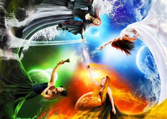 Символическое изображение 4 стихий
