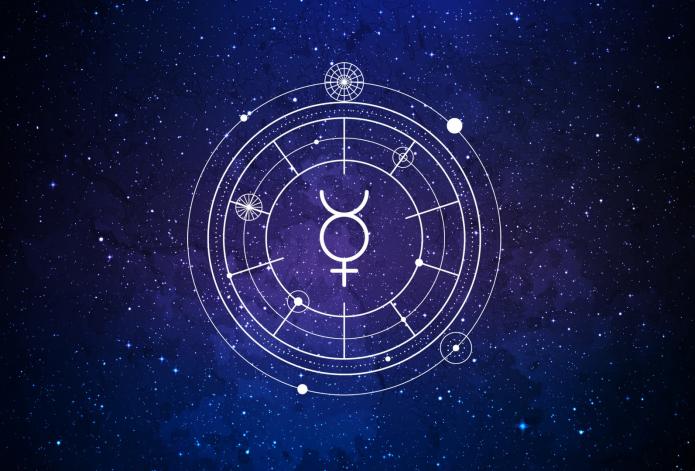 символ планеты Меркурий, космос