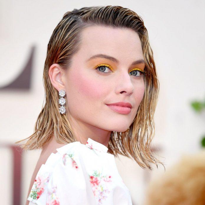 Яркие желтые тени в макияже