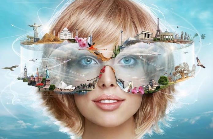 девушка, очки, мечты и планы, голубое нево