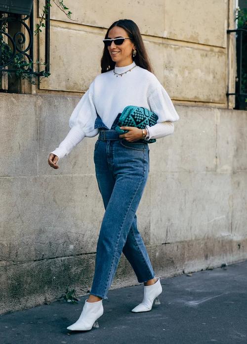 Образ с джинсами для романтической встречи