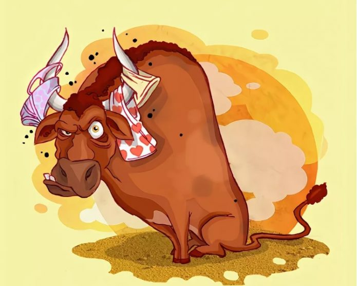 Рисунок разъярённого быка