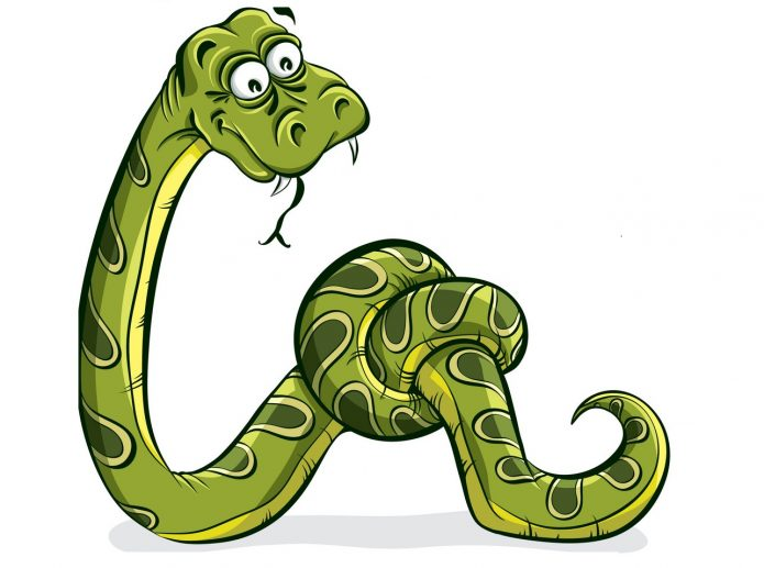 Змея, завязавшаяся в узел