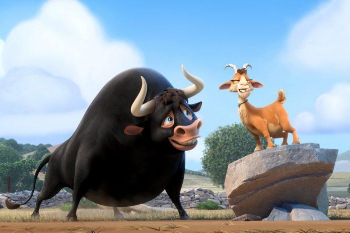 Мультяшные бык и коза