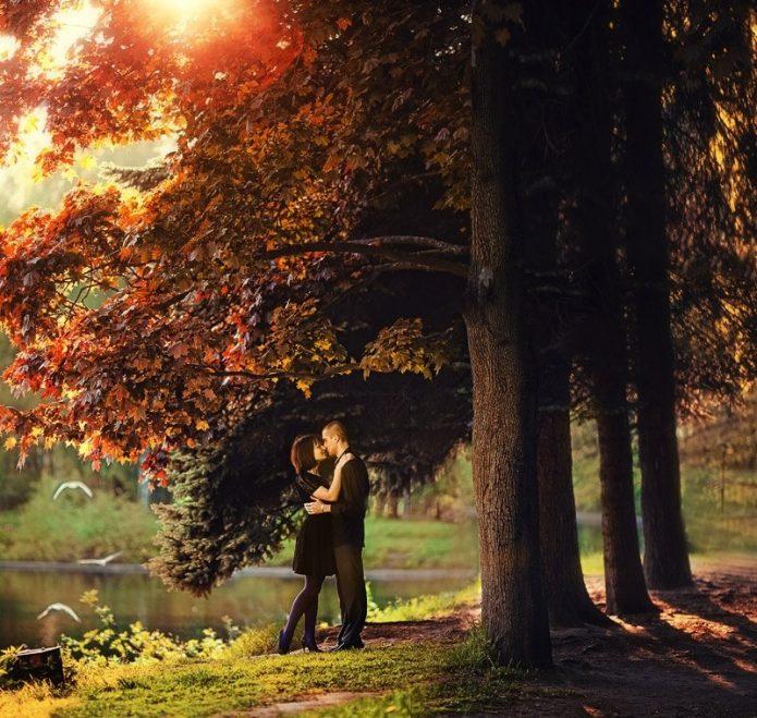 влюблённые, осень