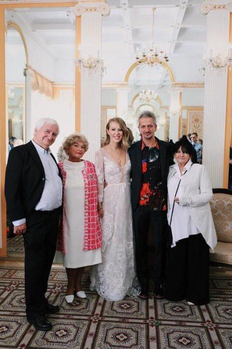 Собчак и Богомолов с родителями