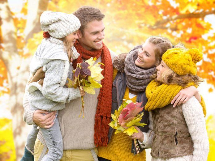 счастливая семья, осень