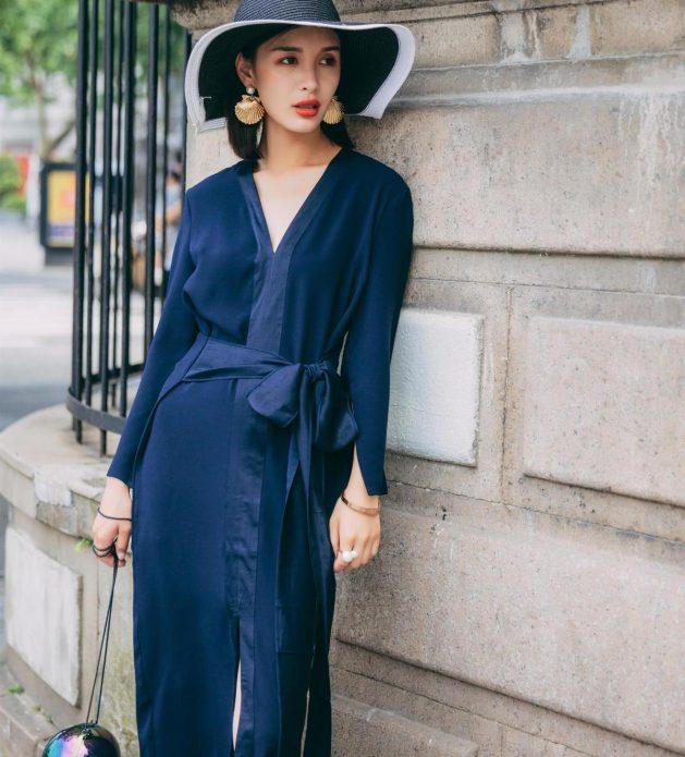 Элегантный халат в пижамном стиле