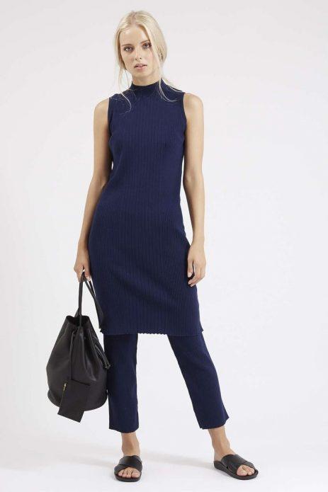 платье с джинсами