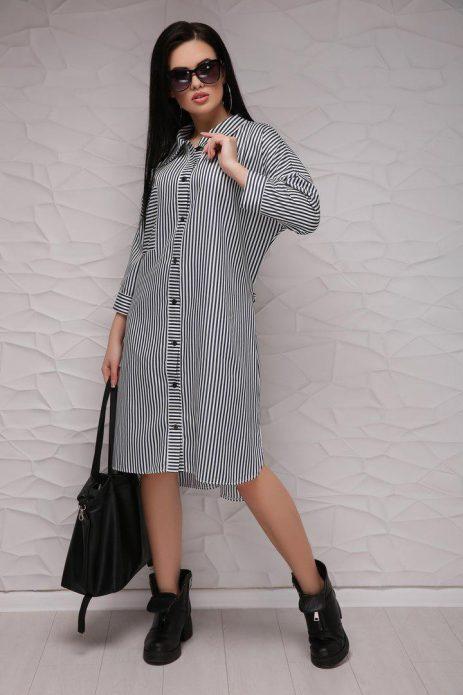 Платье-рубашка в пижамном стиле