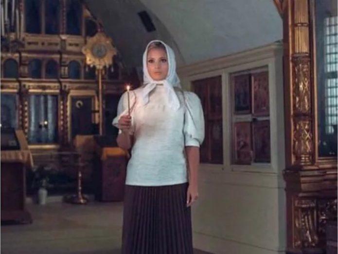 Борисова в храме