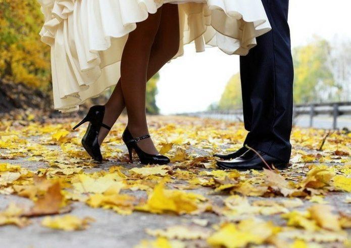 осенний танец, романтика
