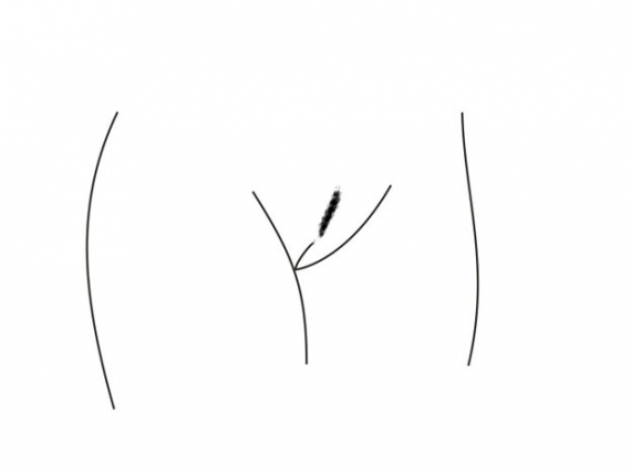 Интимная стрижка в виде полоски