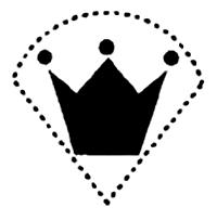 Вариант интимной стрижки в виде короны