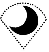 Вариант интимной стрижки в виде полумесяца