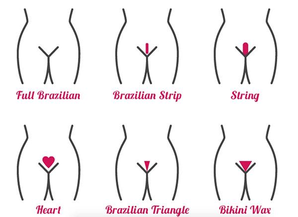 схемы интимных стрижек