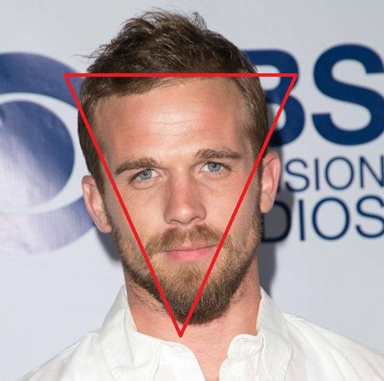 Форма головы перевернутый треугольник Кэма Жиганде