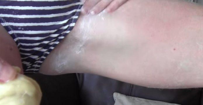 Обезжиривание кожи бикини