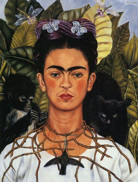 Автопортрет с терновым ожерельем Фриды Кало