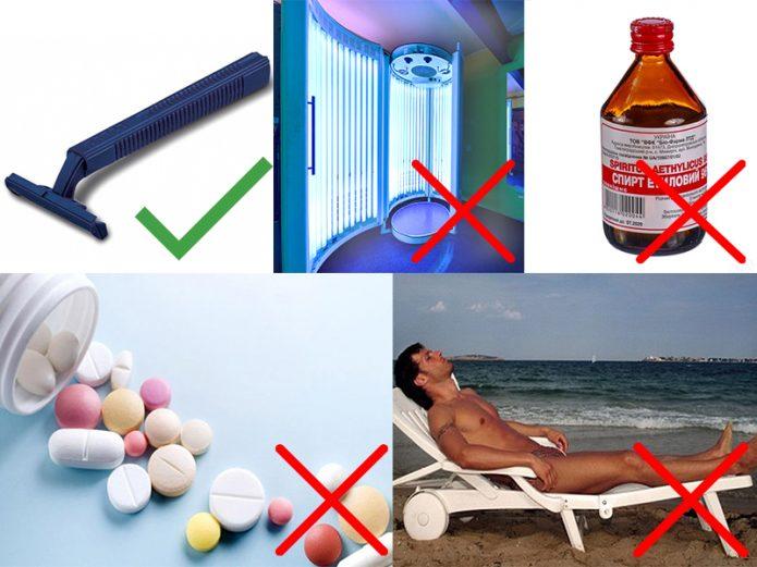 Какими средствами можно или нельзя пользоваться до эпиляции