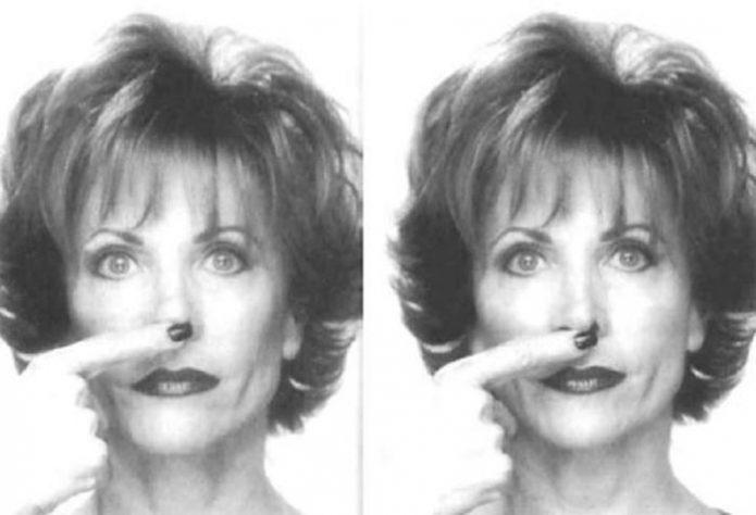 Упражнение на укорачивание носа