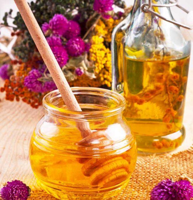 Мёд и масло для массажа
