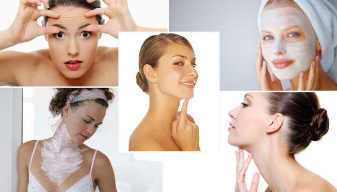 Подтяжка лица и разглаживание морщин при помощи домашних масок