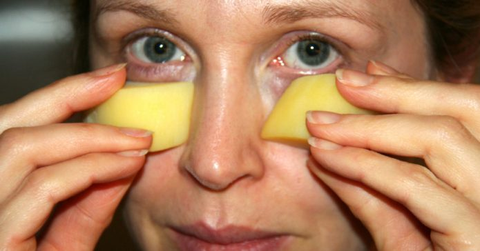 Использование картофеля для лица