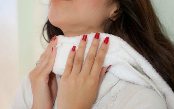 Компресс из полотенца