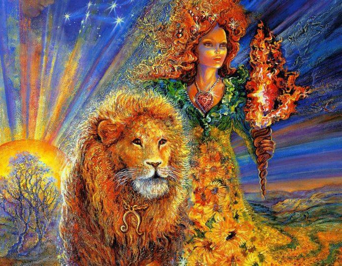 Картина женщины со Львом