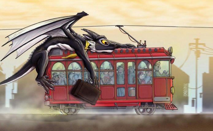 Дракон едет на троллейбусе