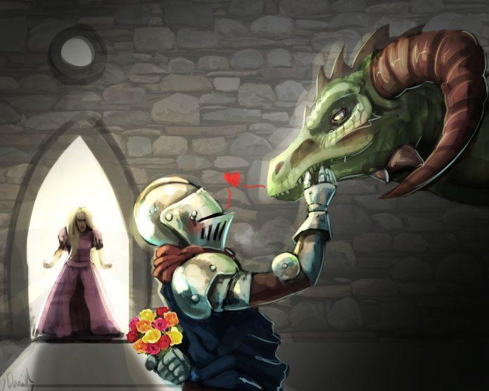 Рыцарь влюблён в Драконихц