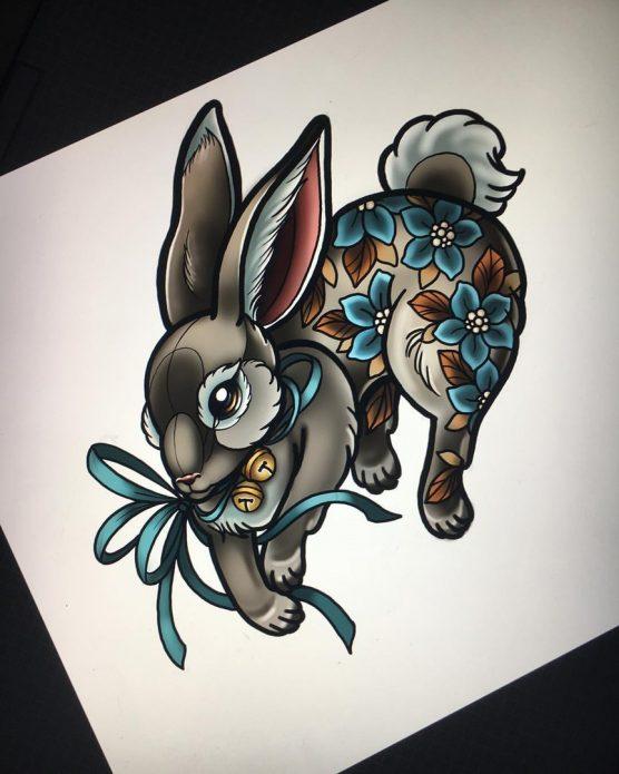 тату кролик эскиз