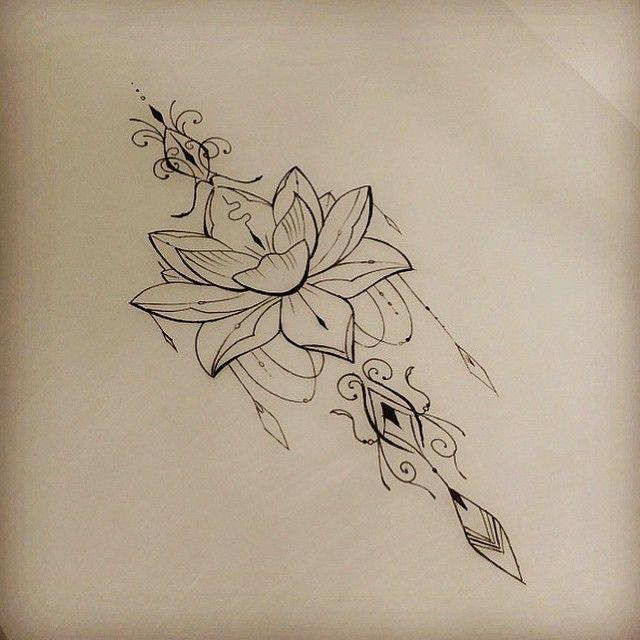 эскиз орнаментал лотос